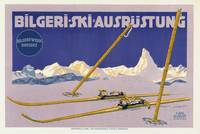 Carl Kunst Ski Equipment Vintage Poster