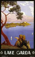 Lake Garda, Italy Vintage Travel Poster
