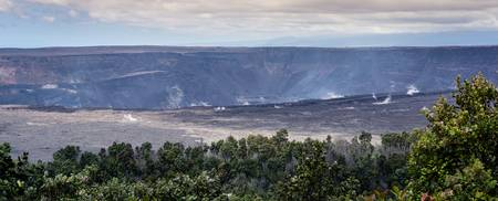 Kilauea Caldera Volcanoes National Park Hawaii