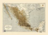 Map of Mexico (1911)
