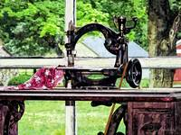 Sewing Machine in Window
