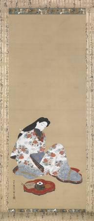 Courtesan in Reverie by Hishikawa Moronobu