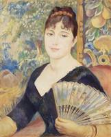 Woman with Fan (1886) by Pierre-Auguste Renoir