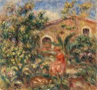 Farmhouse (1917) by Pierre-Auguste Renoir