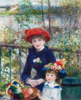 Two Sisters (1881) by Pierre-Auguste Renoir
