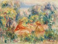Two Women in a Landscape by Renoir