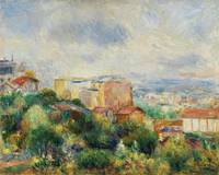 View From Montmartre (1892) Pierre-Auguste Renoir