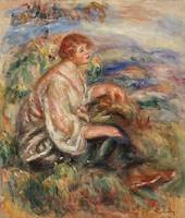 Woman in Tulle Blouse by Renoir