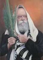 Rebbe with Lulav