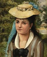 Lise in a Straw Hat by Renoir