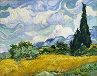 Wheat Field with Cypresses1889) Vincent Van Gogh