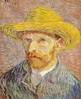 Self-Portrait with Straw Hat by Van Gogh