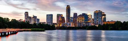 Austin Skyline at Dusk Pano 19