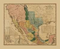 Map of Mexico by Henry Tanner (1846)