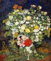 Bouquet of Flowers in a Vase (1890) by Van Gogh