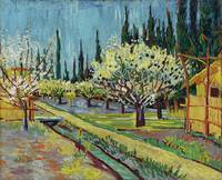 Orchard Bordered by Cypresses by Vincent Van Gogh