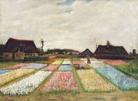 Flower Beds in Holland (1883) by Vincent Van Gogh
