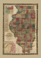 State of Illinois Map (1836)