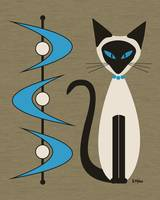 Mid Century Siamese with Boomerangs