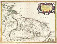 Map of Guyana, Venezuela and El Dorado 1656 Sanson