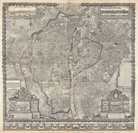 Map of Paris, France 1652 Gomboust