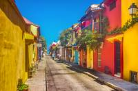 Traditional Street in Cartagena de Indias, Colombi