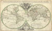 World Hemisphere Projection 2 1691 Sanson