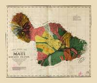 Map of Maui, Hawaiian Island (1885)