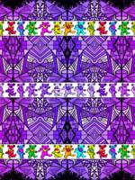 Deadhead Bears Pattern 2 - Purple Pattern