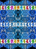 Deadhead Bears Pattern 2 - Blue Pattern