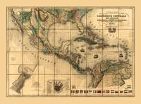 Central America Map (1845)