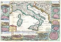 Map of Italy 1706 de la Feuille