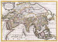 Map of Asia 1687 Sanson - Rossi