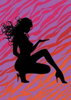 Silhouette of a woman 1