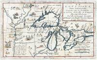 Map of the Great Lakes 1696 Coronelli