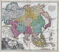 Map of Asia 1730 Homann