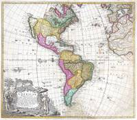Map of South & North America 1746 Homann Heirs