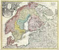Map of Scandinavia and the Baltics 1730 Homann