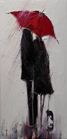 Red Umbrella and Black Cat 2