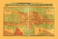 Dominican Republic and Haiti Map (1906)