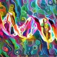 DNA Strand Artwork