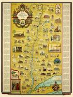 Romance Map Of The Hudson River Valley 1937