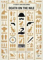 No1086 My Death on the Nile minimal movie poster