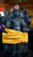 Traditional god statue at a Hindu temple