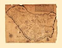 Island of Barbados Map (circa 1700)