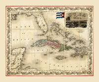 Map of Cuba by J.H. Colton (1851)