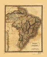 Map of Brazil and Paraguay (1828)