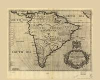 Map of South America (circa 1700)