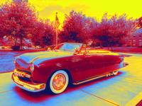 1950 Ford Custom 2 gradient neon coloring by Ahmet