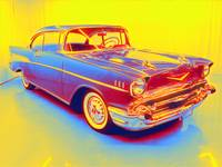 1957 Chevrolet Bel Air gradient neon coloring by A
